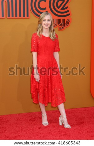LOS ANGELES - MAY 10:  Angourie Rice at the The Nice Guys Premiere at the TCL Chinese Theater IMAX on May 10, 2016 in Los Angeles, CA