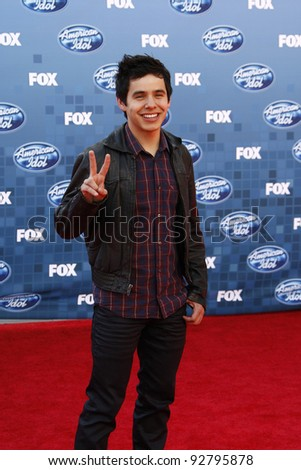 LOS ANGELES - MAY 25: David Archuleta at the American Idol Finale at the Nokia Theater in Los Angeles, California on May 25, 2011.