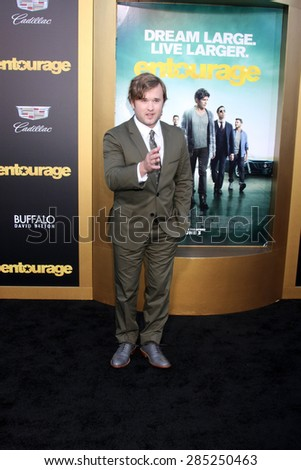 "LOS ANGELES - MAY 27:  Haley Joel Osment at the ""Entourage"" Movie Premiere at the Village Theater on May 27, 2015 in Westwood, CA"