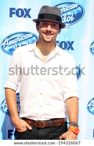 LOS ANGELES - MAY 21:  Jason Mraz at the American Idol Season 13 Finale at Nokia Theater at LA Live on May 21, 2014 in Los Angeles, CA