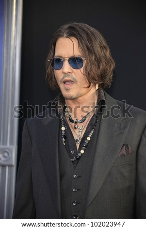 LOS ANGELES - MAY 7: Johnny Depp at the premiere of WB Pictures' 'Dark Shadows' at Grauman's Chinese Theater on May 7, 2012 in Los Angeles, California