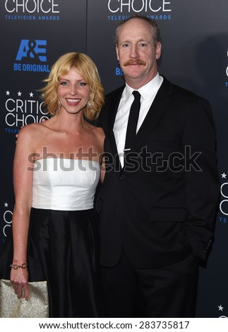 LOS ANGELES - MAY 31:  Matt Walsh & Morgan Walsh arrives to the Critic's Choice Television Awards 2015  on May 31, 2015 in Hollywood, CA