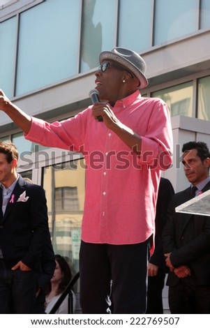 LOS ANGELES - OCT 9:  Arsenio Hall at the New Kids On the Block Hollywood Walk of Fame Star Ceremony at Hollywood Boulevard on October 9, 2014 in Los Angeles, CA
