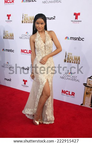 LOS ANGELES - OCT 10:  Massiel Taveras at the ALMA Awards Arrivals 2014 at Civic Auditorium on October 10, 2014 in Pasadena, CA