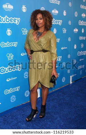 LOS ANGELES - OCT 20:  Tanika Ray arrives at  the Qubeeys Chris Brown Channel Launch Event at Private Residence on October 20, 2012 in Beverly Hills, CA