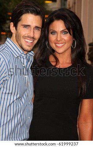 "LOS ANGELES - SEP 28:  Brandon Beemer, Nadia Bjorlin arrives at  ""Celebrating 45 Years of Days of Our Lives"" at Academy of Television Arts & Sciences on September 28, 2010 in No. Hollywood, CA"