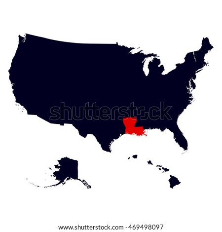 Louisiana State In The United States Map