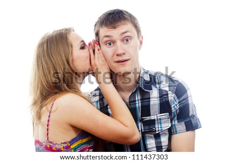 love a guy girl whispers in his ear