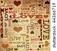love doodles, text. - stock vector
