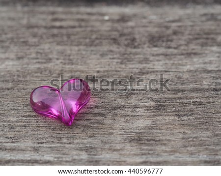 Love heart on rustic wooden, valentine's day background,