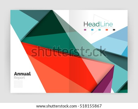 Low poly triangle abstract background