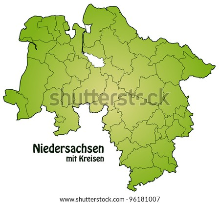Lower Saxony with counties