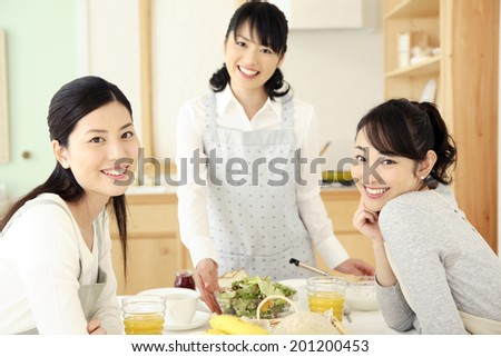 Japanese mother inlaw daughterinlaw smile stock photo for Friend in japanese