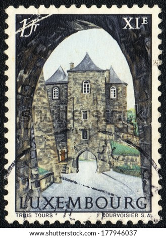 LUXEMBURG  - CIRCA 1972: A stamp printed in Luxemburg shows   Luxemburg, circa 1972