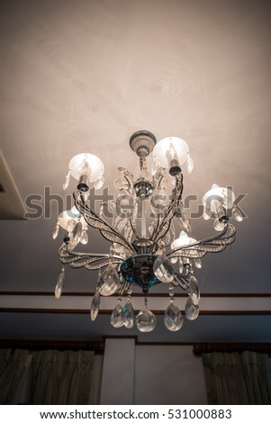 Luxury of chrystal chandelier