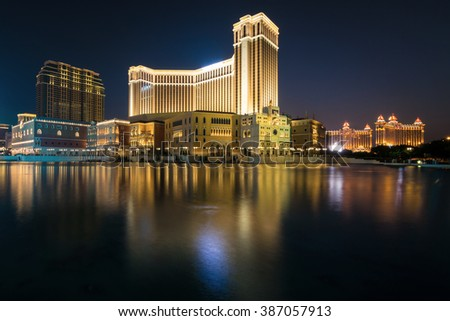 MACAU,CHINA - NOV 24:The Venetian Macao-Resort-Hotel mall on Nov 24, 2015 in Macau. This is a major tourist attraction in Macau.