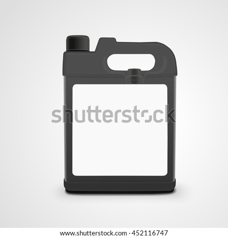 machine oil canister isolated on white background. 3D illustration.