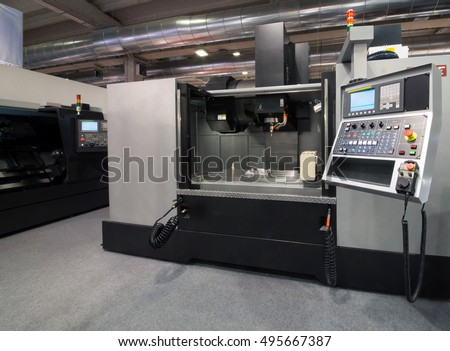 Machine tools with Computer Numerical Control (CNC). CNC is the automation of machine tools that are operated by precisely programmed commands encoded on a storage mediumas.