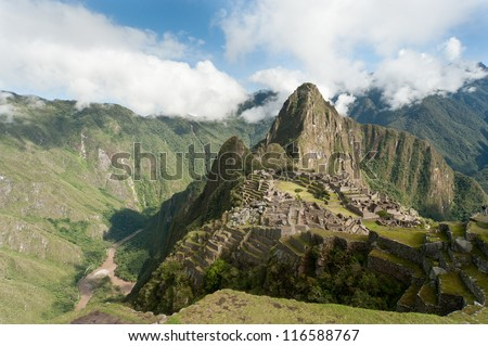 Machu Picchu is a pre-Columbian 15th-century Inca site