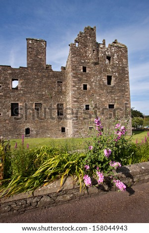 MacLellan�s Castle, Kirkcudbright, Dumfries and Galloway, Scotland is a ruined town house built in 1582 by the town provost Sir Thomas MacLellan.