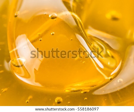 Macro abstract of golden honey