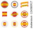 Made in Spain labels, badges and stickers - stock photo