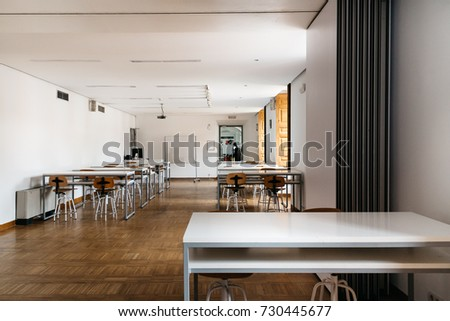 Modern kitchen interior design wooden facades stock for Ied interior design
