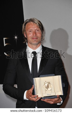 Mads Mikkelsen at the winners' photocall at the closing awards gala at the 65th Festival de Cannes. May 27, 2012  Cannes, France Picture: Paul Smith / Featureflash