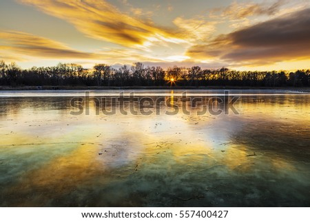 Magical Colours of the frozen lake.