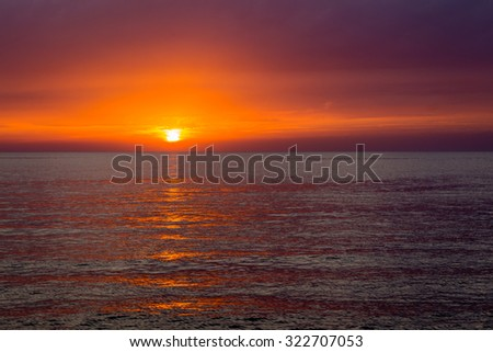 Magical sunset over the Adriatic sea