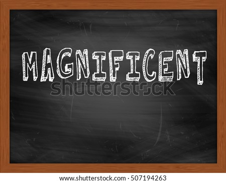 MAGNIFICENT hand writing chalk text on black chalkboard