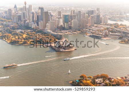 Magnificent Sydney aerial skyline.