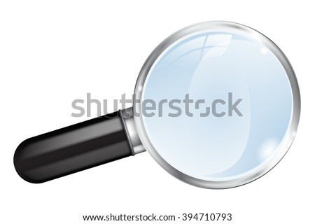 Magnifier.  Magnifying glass.   illustration isolated on white background. Raster version