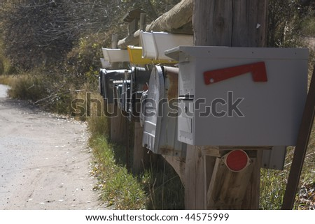 Mailboxes of Colorado, USA
