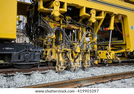 Maintenance railway on working