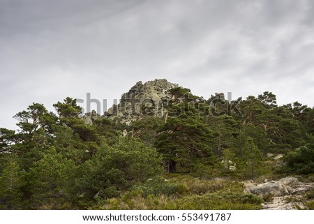 Majalasna Peak. It is part of Siete Picos (Seven Peaks) range, in Guadarrama Mountains National Park, province of Madrid, Spain