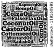 Major oil for biofuell info-text graphics and arrangement concept on white background (word cloud) - stock vector