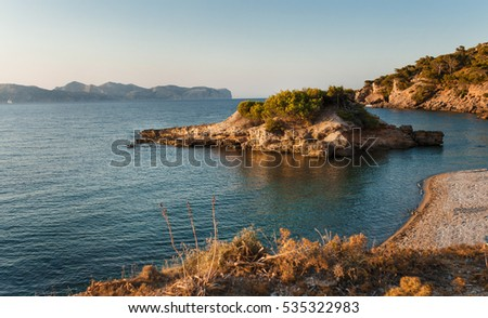 Majorca. Coastline at Balearic islands