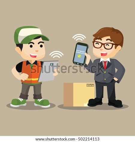 make mobile payment with deliverry officer