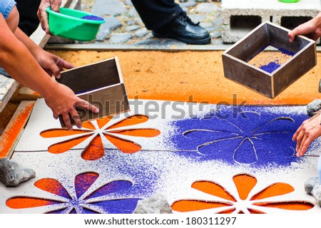 Making A Holy Week Processional Carpet Or Alfombra Using