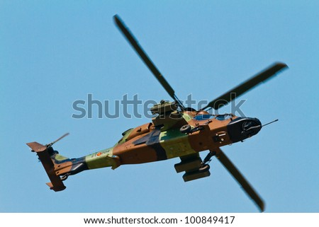 Malaga spain may 28 helicopter eurocopter ec 665 tiger of the famet