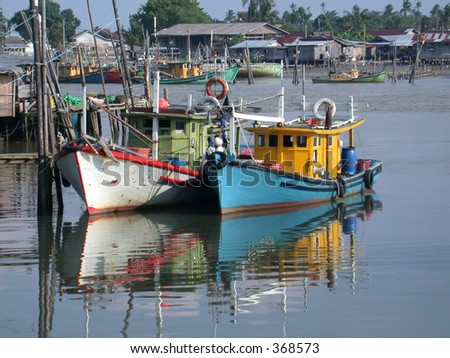 Malaysian fishing boats