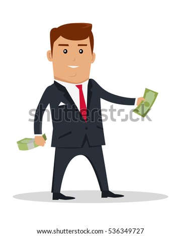 Businessman Climbing Business Graph On White Stock Vector