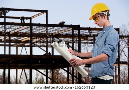 Male Construction Worker on a job site