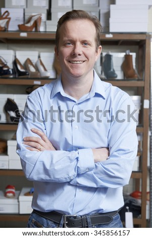 Male Owner Of Shoe Store