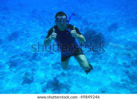 Man diving in Red Sea - Egypt