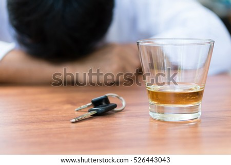 Man Drunken whisky and can not driver