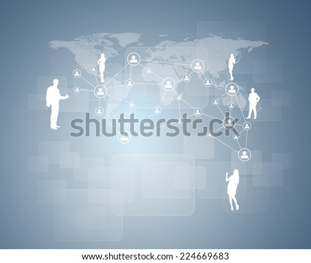 Man hands using tablet pc. Image of Earth and network on tablet screen. Element of this image furnished by NASA