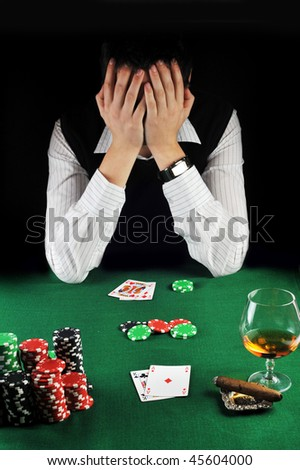man  has lost in cards