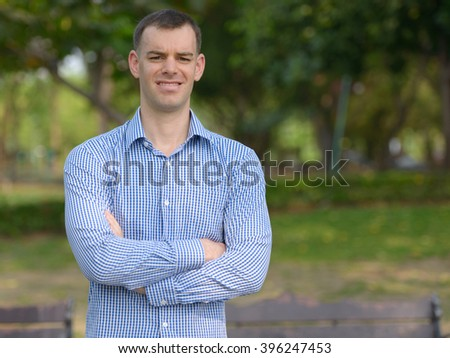 Man outdoors in park